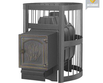 Печь для бани и сауны Везувий Легенда стандарт 22 (чугунная)