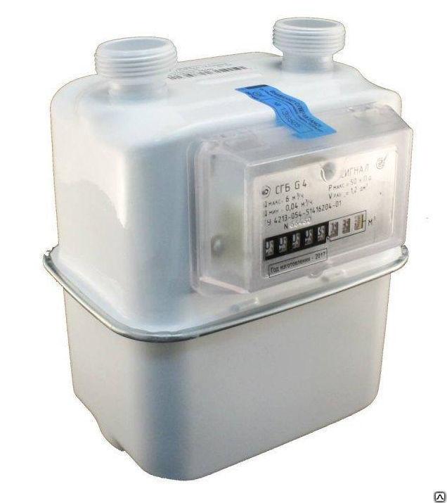 Счетчик газовый бытовой ВК G4 левый V1.2 2018 г.