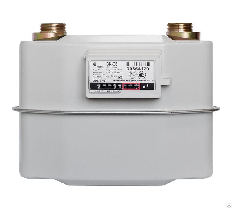 Счетчик газа бытовой ВК G6 левый Эльстер 2017 г.