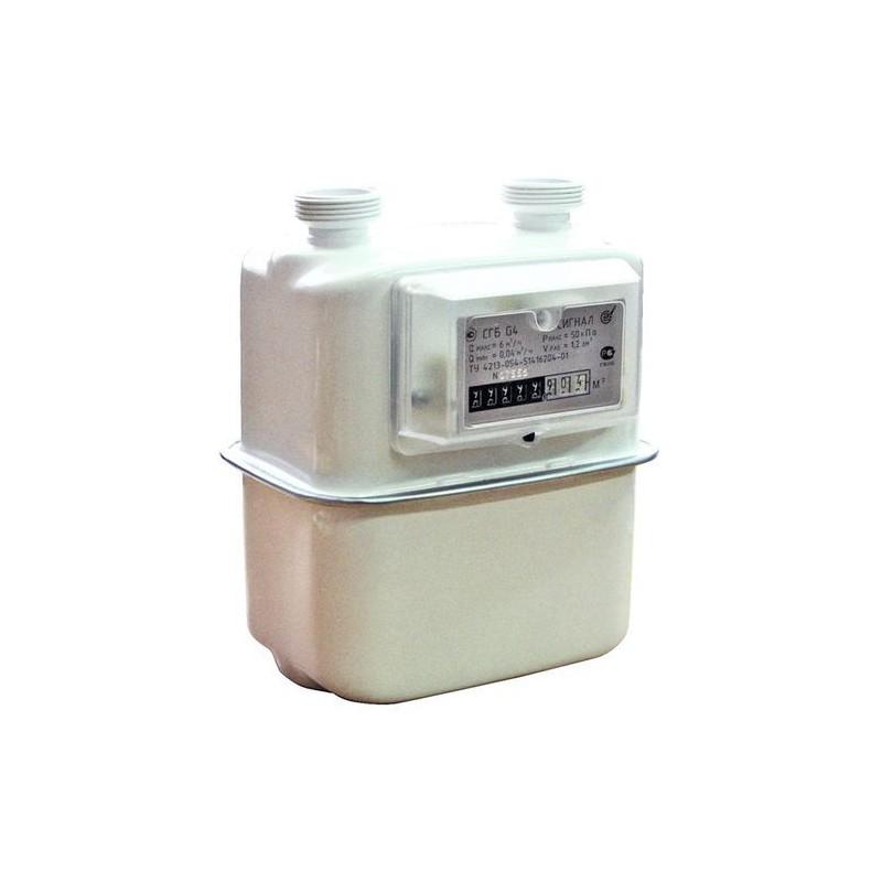 Счетчик газа бытовой СГБ G4 СИГНАЛ правый-06 (вертикальный, М33Х1,5) 2019 г.