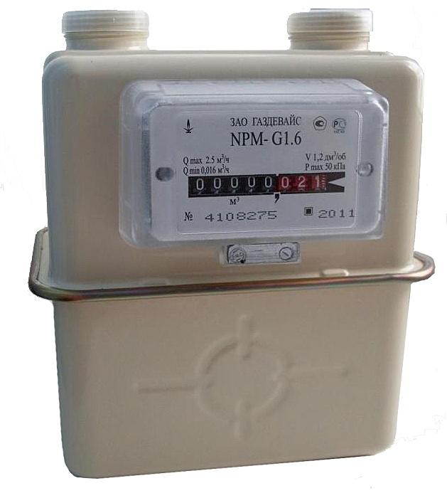 Счетчик газа NPM-G1,6 левый Газдевайс