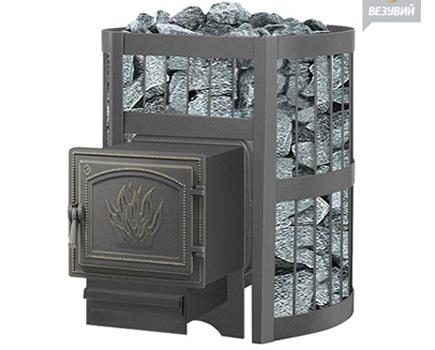 Печь для бани и сауны Везувий Легенда стандарт 12 (чугунная)