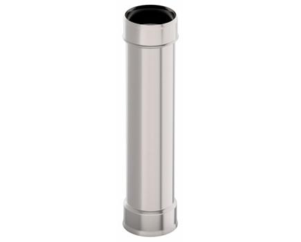 Дымовая труба d 130 L = 1,0 м, 1,0 мм нержавейка