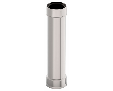 Дымовая труба d 120 L = 1,0 м, 0,5 мм нержавейка