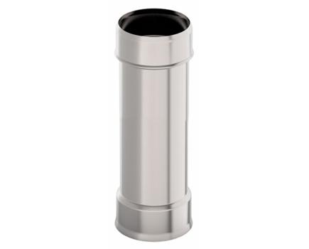 Дымовая труба d 115 L = 0,5 м, 1,0 мм нержавейка