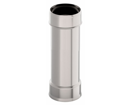 Дымовая труба d 130 L = 0,5 м, 1,0 мм нержавейка