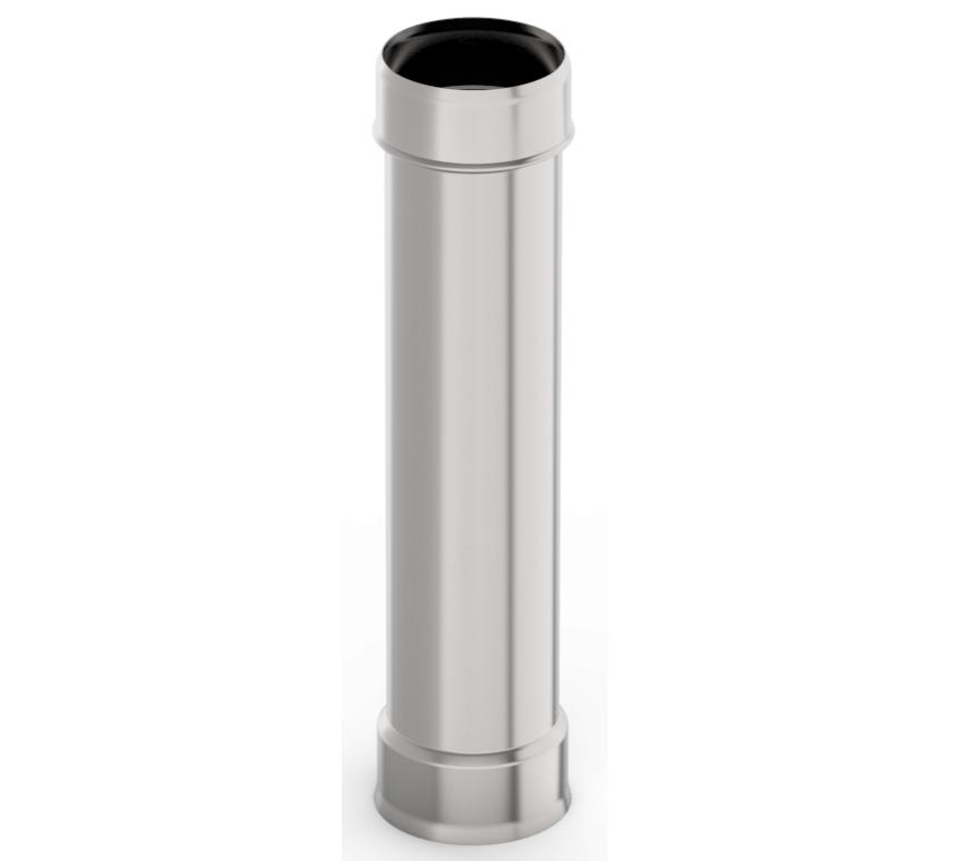 Дымовая труба d 110 L = 0,5 м, 1,0 мм нержавейка